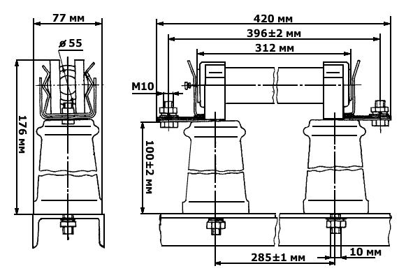 Размеры предохранителя ПКТ 101-6 У3