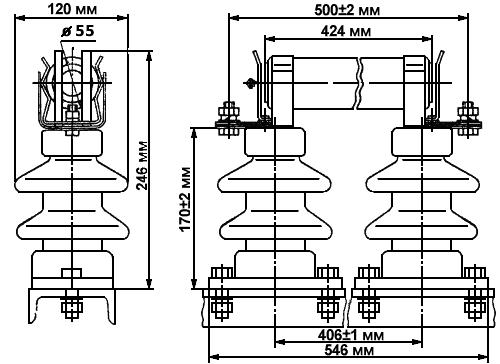 Размеры предохранителя ПКТ 101-10-10-20 У1